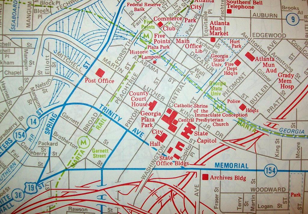 Downtown Atlanta Hotel Map on