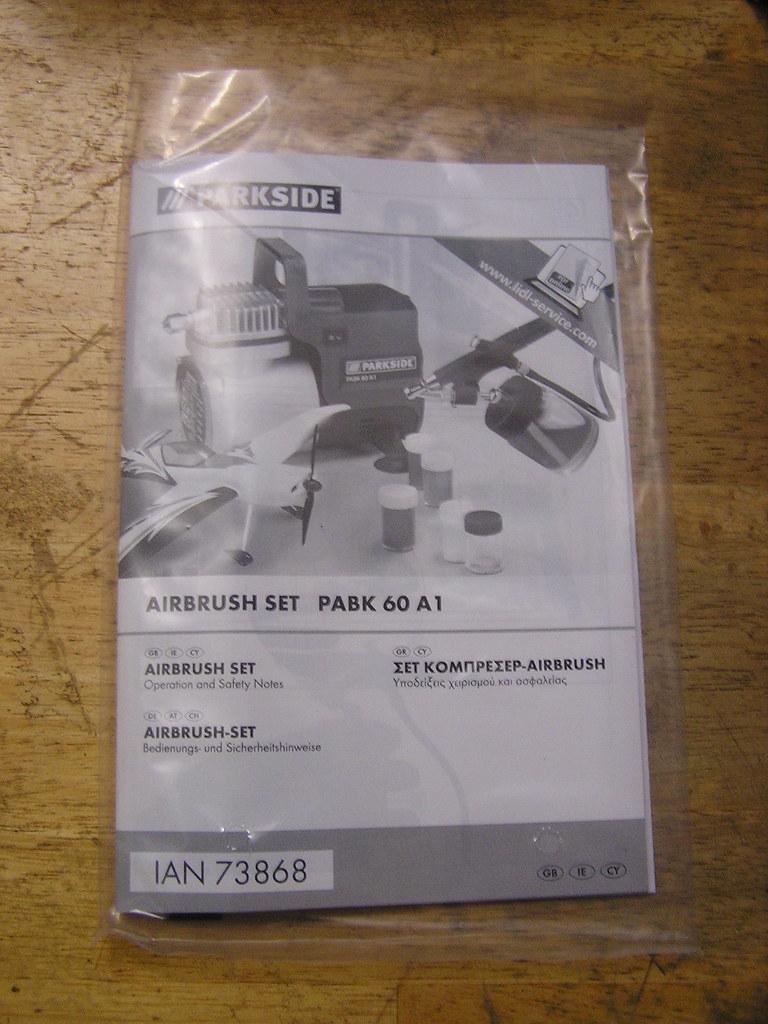 Lidl Airbrush Parkside PABK 60 A1 Compressor - Booklet   Flickr