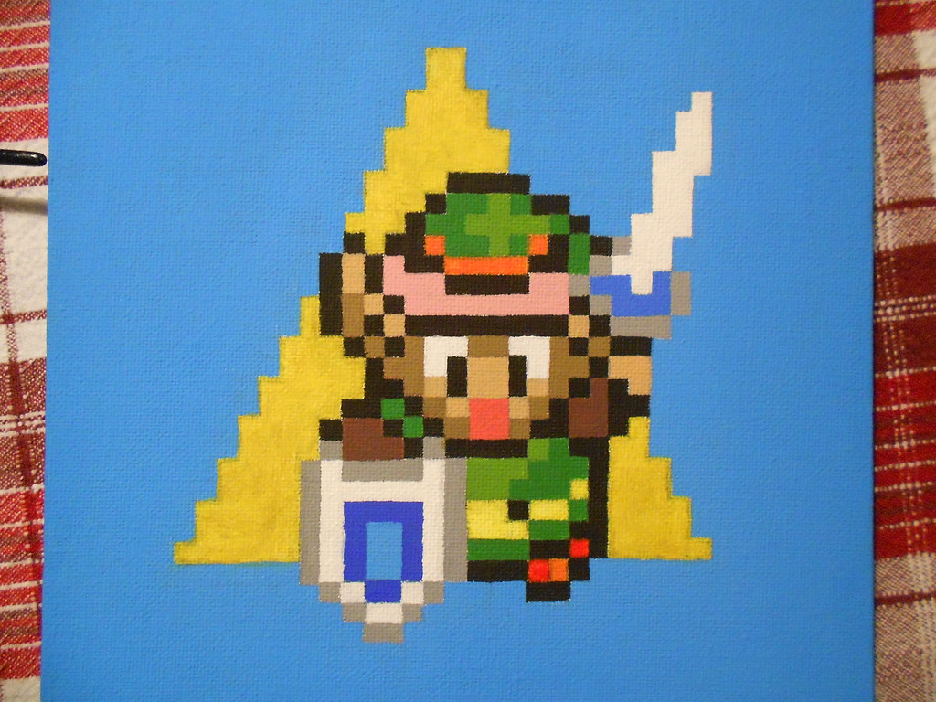 16 Bit Link The Legend Of Zelda A Link To The Past Pixe