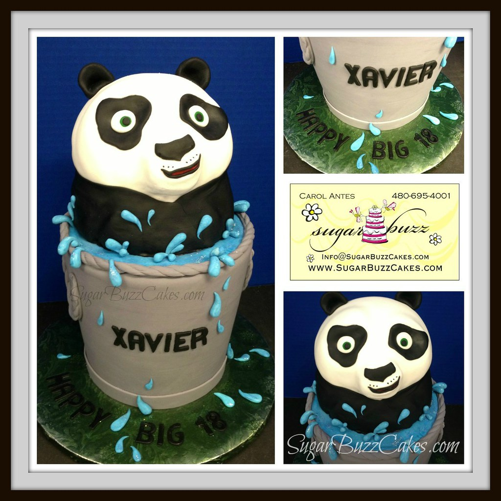 Cool Kung Fu Panda Birthday Cake A Photo On Flickriver Funny Birthday Cards Online Elaedamsfinfo