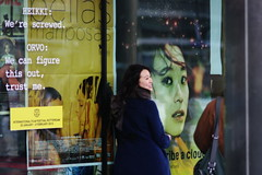 IFFR 2013: Lu Huang in front of her own film poster