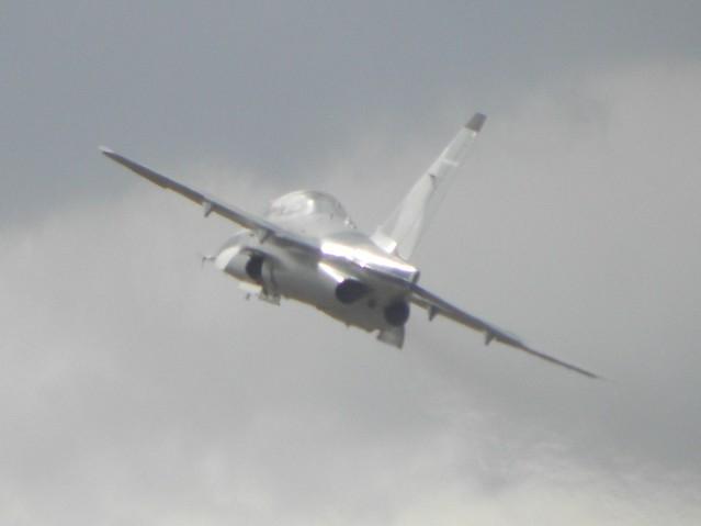 A military jet at the 2010 Farnborough Air Show