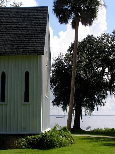 travel church sunshine river florida gothic shoreline victorian palm september liveoak chancel tropics anglican episcopal 2012 nationalregister boardandbatten nrhp carpentergothic mystuart