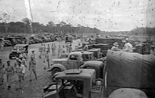 """1944 - Australian Army races at Port Moresby, New Guinea. Tom comments """"It looks like the Albury races"""""""
