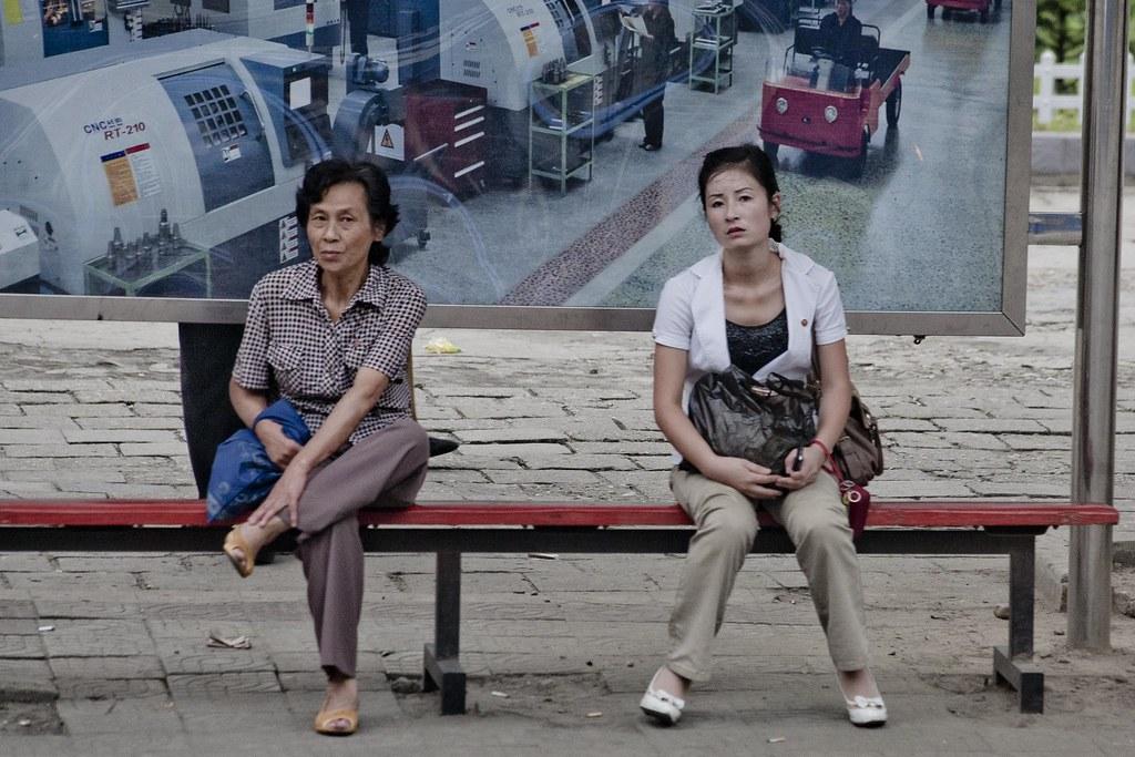 Bus stop in Pyongyang, DPRK (North Korea) | Pyongyang (평양