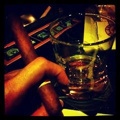 Taking a break from beer...  Cigar, Single Malt and Dark Chocolate.