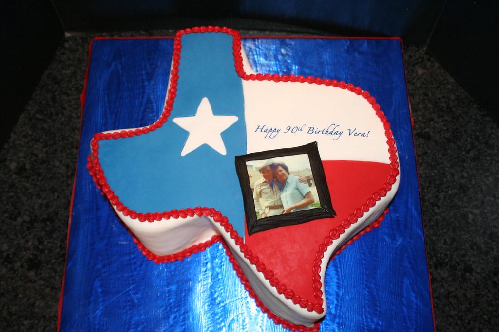 Magnificent Texas Birthday Cake Elaine Edge Flickr Personalised Birthday Cards Veneteletsinfo