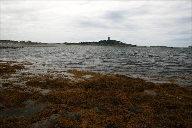 View back to L'Eree Headland Fort Saumarex