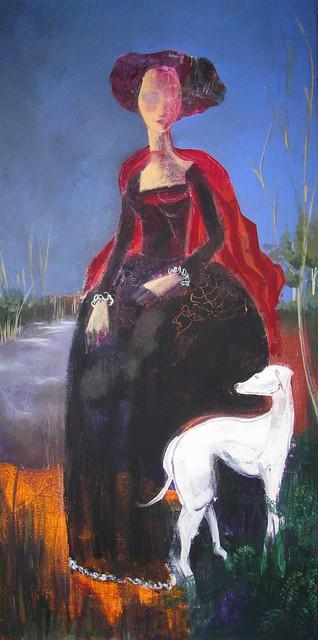 Dama con levriero - Dame with greyhound - Dame mit Windhund - Dame avec levrière - Dama com galgo