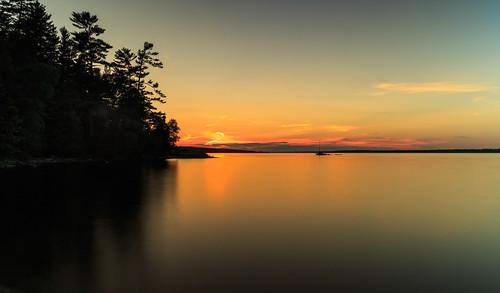 ottawariver sunset longexposure