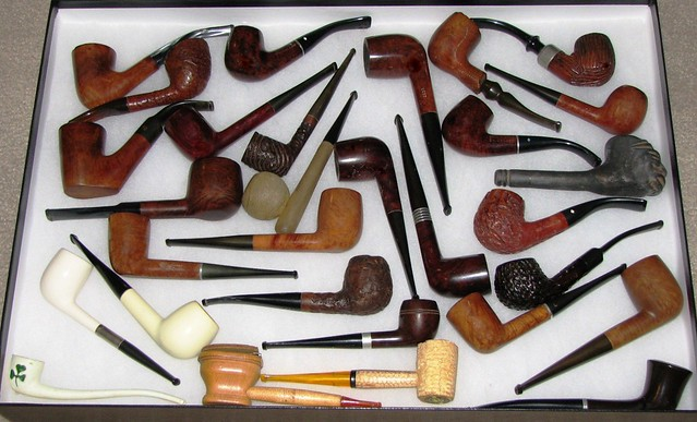 Collection of Regular and Novelty Vintage Tobacco Pipes