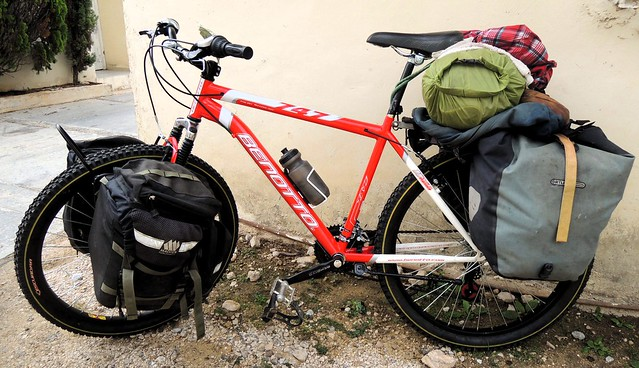 The first time my bike had all the bags by bryandkeith on flickr