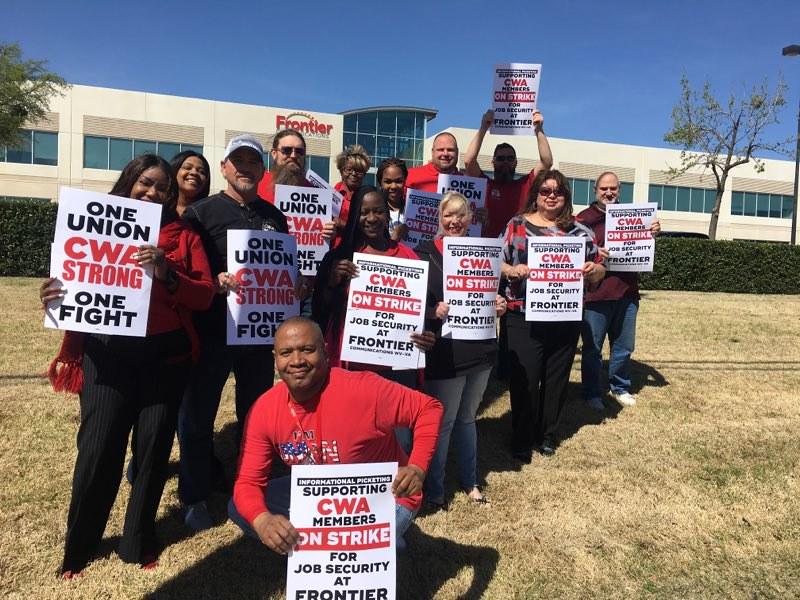 Frontier Strike Solidarity Action in Texas
