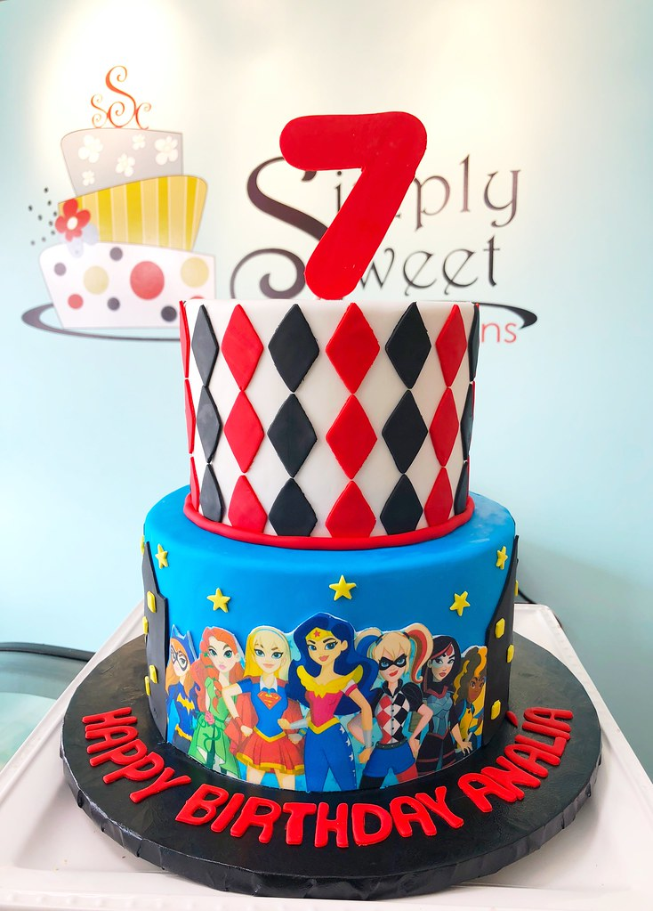 Outstanding Dc Superhero Girls Cake A Photo On Flickriver Funny Birthday Cards Online Kookostrdamsfinfo