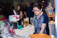 Guests had a wide variety of items to bid on at this yearʻs silent auction.