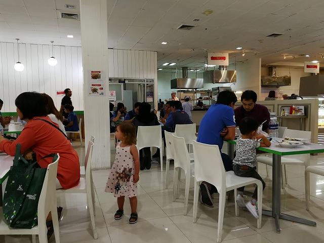 <p>d)食堂です。広くて自由な場所。病院スタッフもこちらで食事しています。</p>