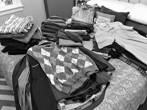 purging tons of clothing