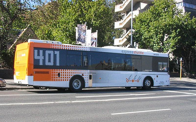Melbourne University 401 shuttle bus, March 2008