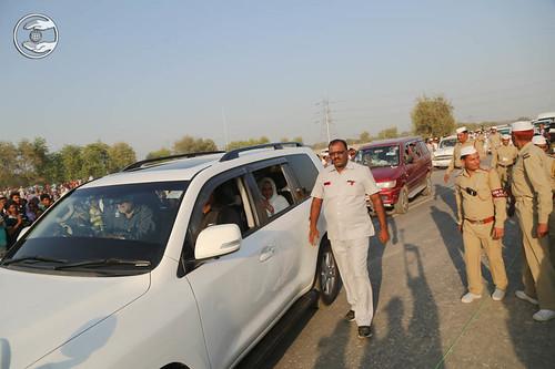 Arrival of Satguru Mata Ji in the Samagam Ground