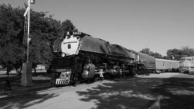 Union Pacific 3977 Black and White