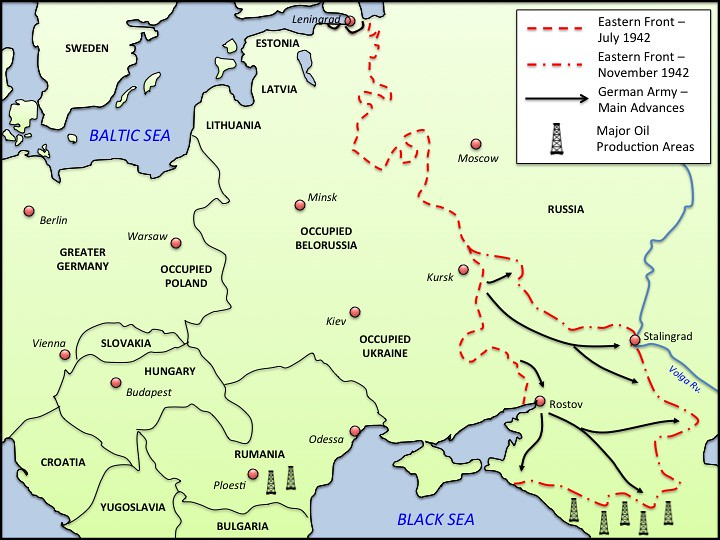 Map Of Germany 1942.Ww2 Eastern Front 1942 Map Patrick Gray Flickr