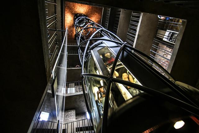 The astronomical clock elevator