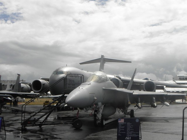 A US Fighter Aircraft at the 2010 Farnborough Airshow
