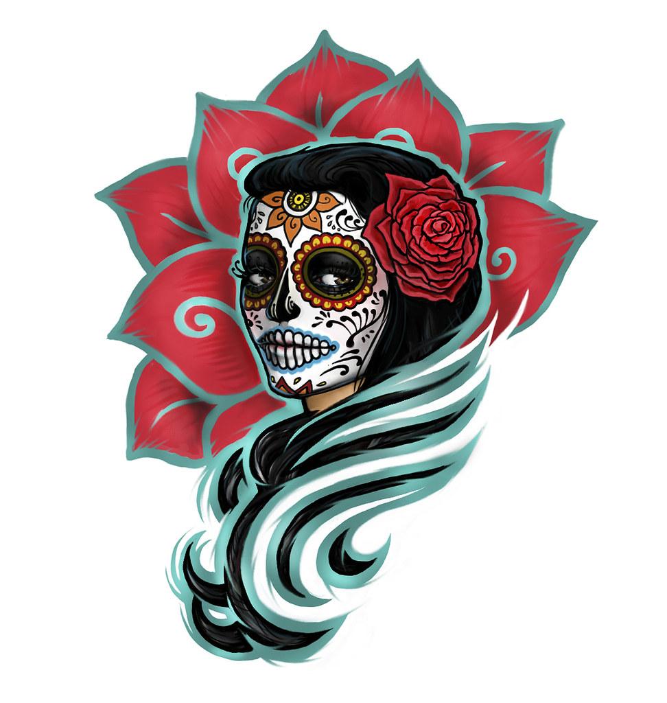 Dia De Los Muertos Tattoo Design Contest Winner
