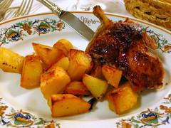 Al Moro- abbacchio romanesco al forno e patate (roast lamb with potatoes) ?24
