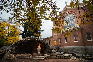 The Grotto is designed to honor the Blessed Mother Mary and provide a place for reflection and prayer.   by Gonzaga University