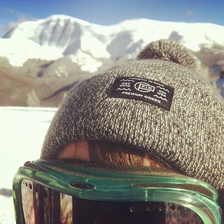 Product testing on the slopes. #beanie #winterhat #fourthisking