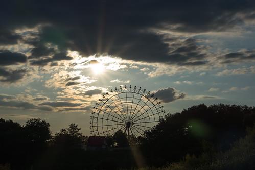 sunset sky cloud sunlight nature japan clouds evening sony ferriswheel 日本 夕日 夕暮れ 愛知県 nex 観覧車 大観覧車 モリコロパーク nex7
