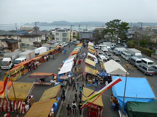 2012/10/14 (日) - 14:25 - 山門からみた材木座海岸