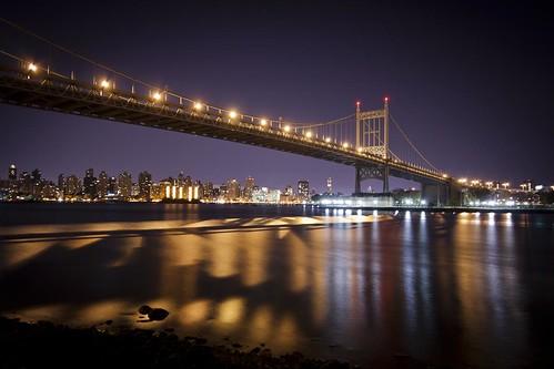 "city longexposure morning bridge urban newyork water skyline night canon river eos rebel lights shadows manhattan flowing xs greatphotographers top20bridges thisphotorocks ""flickraward"" ""flickraward5"" ""flickrawardgallery"""