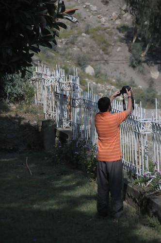 pakistan orange fence river indus northwestfrontier besham