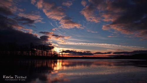 november blue sunset sun lake reflection water clouds evening kevin ottawa 2012 povenz