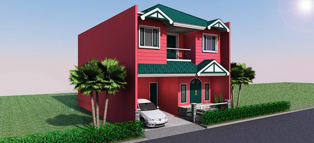 Desain Rumah Unik Di Pulo Asem Pesrpektif 1 This Photo Bel Flickr