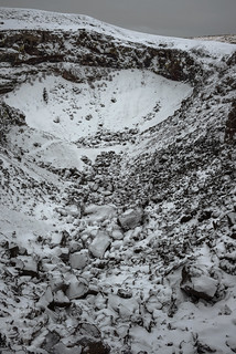 Coffeepot crater under snow