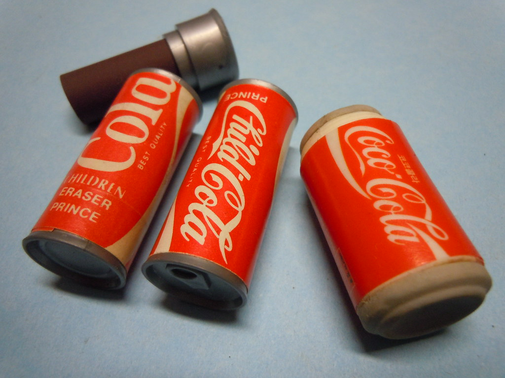 Beverage Cans Coke fake 80s Erasers | Child Cola Can - Price
