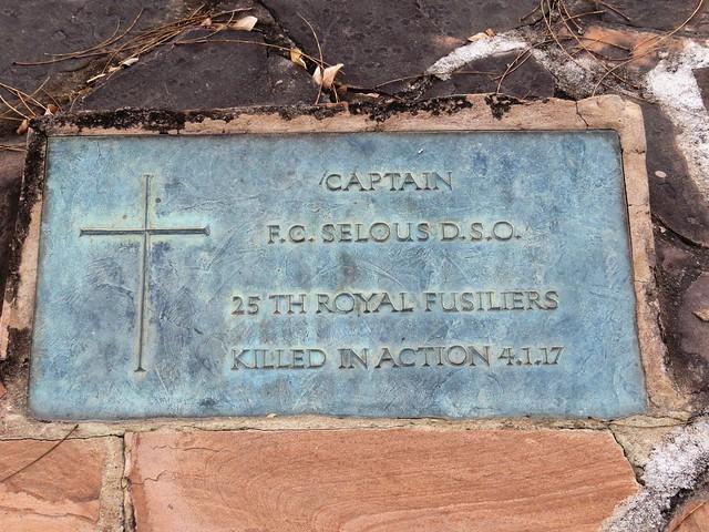 Grave Marker of Captain Selous