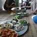 Repas avec les  membres de la  coop Tan Huong