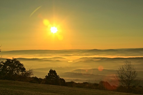 morning autumn trees mist mountains fall fog sunrise hills wv