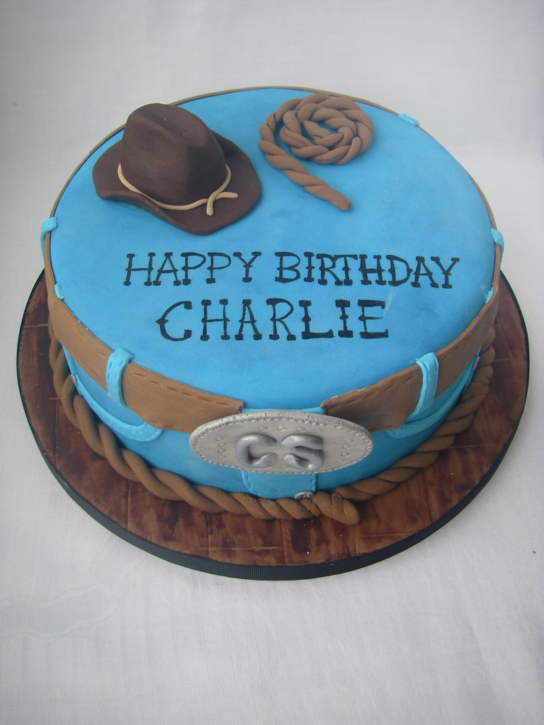 Astonishing Western Themed Cake This Is For My Father Who Is Very Unwe Flickr Funny Birthday Cards Online Alyptdamsfinfo