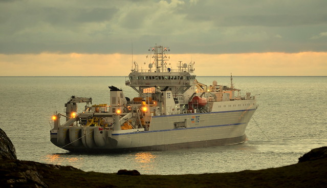 Cable Laying Ship Off Anglesey Coast ...