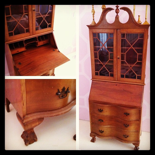 New #vintage #Chippendale secretary for this weekend's #CityWide #sale in #Austin!