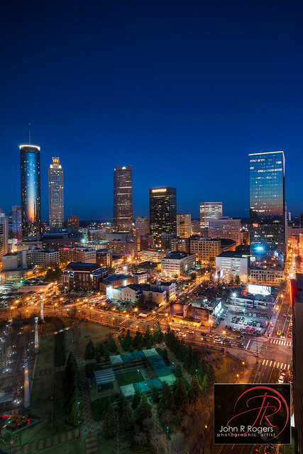 Atlanta Skyline Sunset