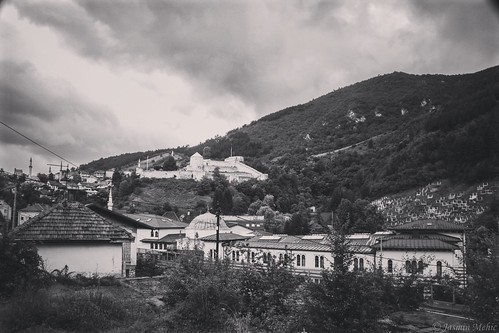 travnik oldtown starigrad bosnaihercegovina blackandwhite black white