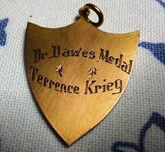 Terrence Krieg Dr Dawes Medal dux GPS 1950