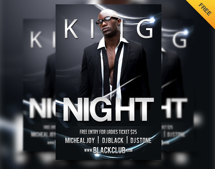 Free King Night Party Club Flyer Psd Template | Free King Ni