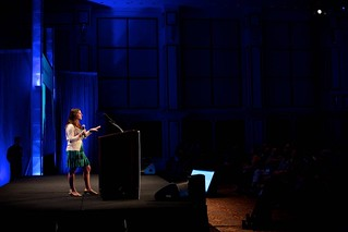 """Angela Wysocki (@angelawysocki) during her Ignite session at DNN World 2012 